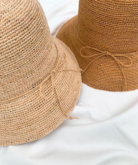Raffia knitting  hat