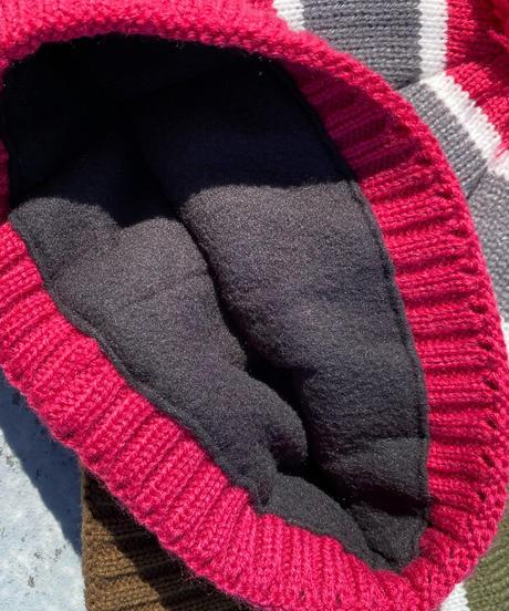 Thinsulate striped Pon Pon Knit