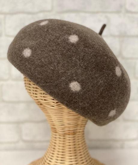 Dot Wool Beret