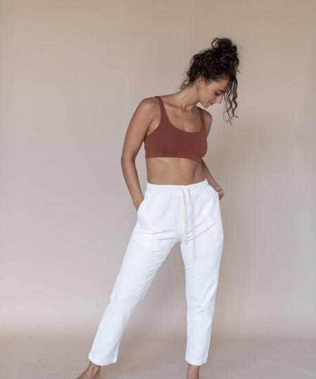 Livia Cord Trousers Ivory
