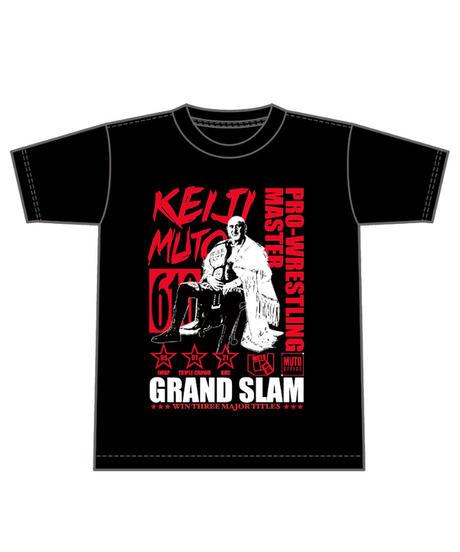 【期間限定受注生産】缶バッチ付き武藤敬司「グランドスラム」Tシャツ