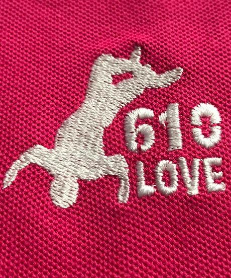 武藤敬司「610LOVE」刺繍ポロシャツ(ピンク)