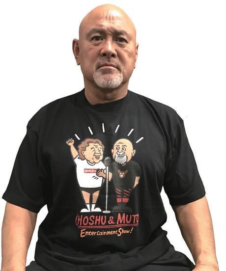 長州力×武藤敬司「Entertainment Show」Tシャツ(黒)