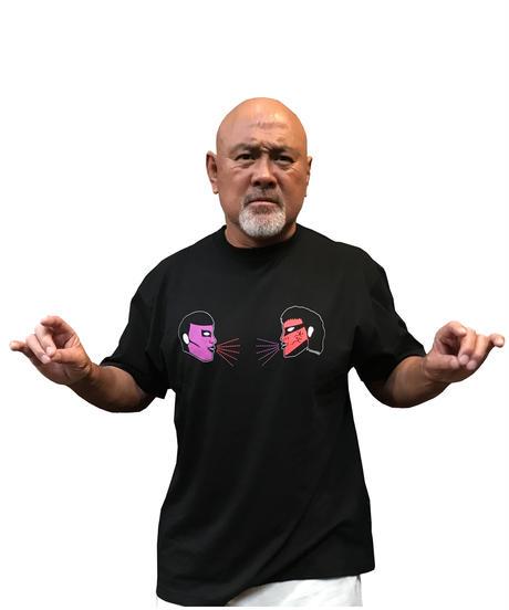 【受注生産】 PDS × グレートムタ「タッグTEE 」Tシャツ ※KEIJI MUTO OFFICIAL SHOP 限定カラー