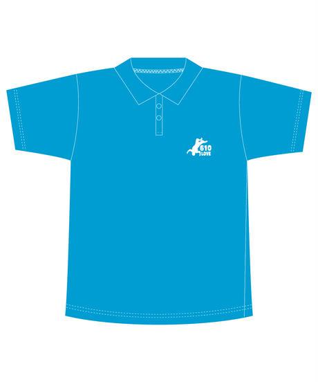 武藤敬司「610LOVE」刺繍ポロシャツ(水色)