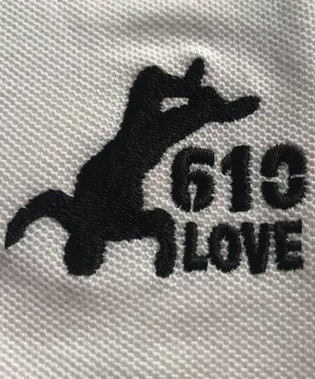 武藤敬司「610LOVE」刺繍ポロシャツ(白)
