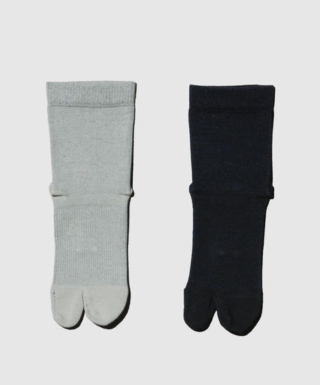 01_11 BLOOD FLOW SOCKS for BALANCE  (Crew length / Japanese socks with split toe)