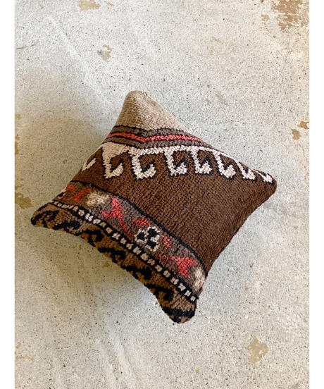 Lily vintage | cushion cover -brown-