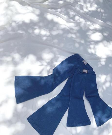 Twin collective   Farrah Flare Jean - Retro Blue