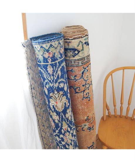 vintage rug   rug navy blue 256 × 114 cm