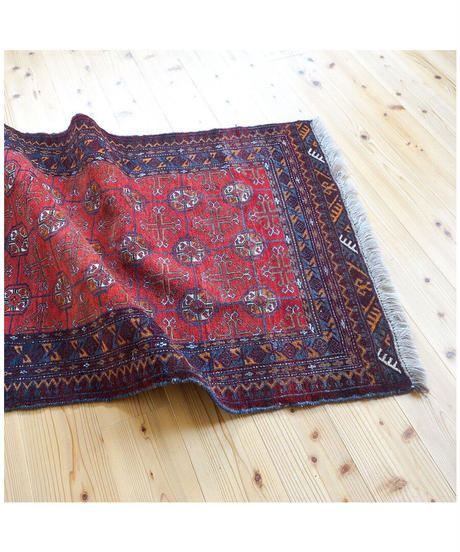 Afghanistan vintage | rug baluch dark red 127 × 90cm