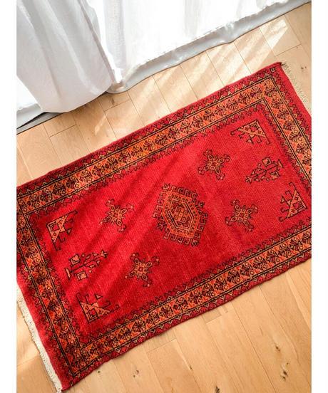 vintage rug | rug baluch red 130 × 74cm
