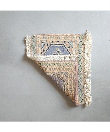 Afghanistan vintage   mini rug beige 27 × 33.5cm