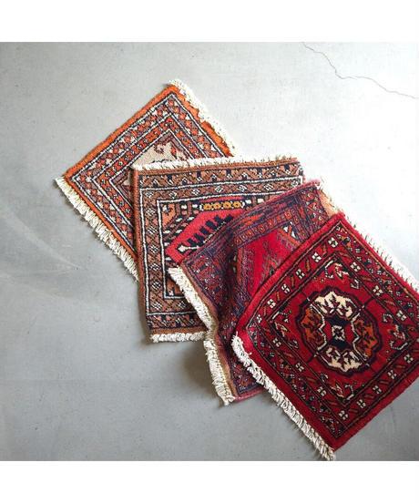 Afghanistan vintage   mini rug red 28.5 × 30cm