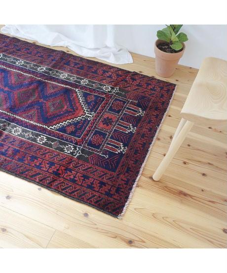 Afghanistan vintage   rug baluch navy 153 × 93cm