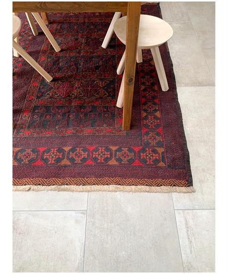 vintage rug   rug Afghan floor 133.5 × 182cm