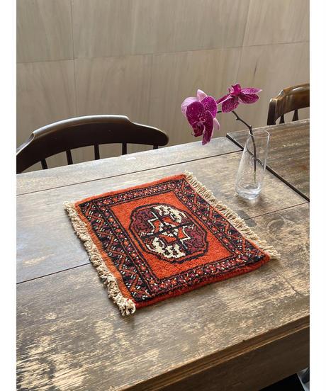 Afghanistan vintage | mini rug orange 27.5 × 32cm