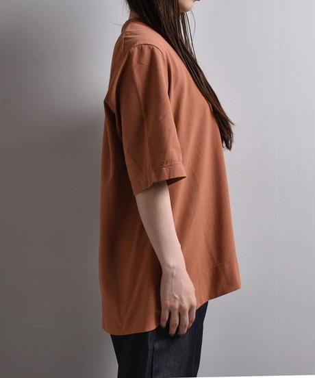 NO CONTROL AIR / ニットジョーゼット 4分袖Tシャツ