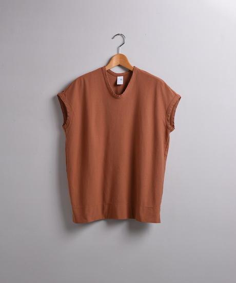 NO CONTROL AIR / ニットジョーゼット フレンチスリーブTシャツ