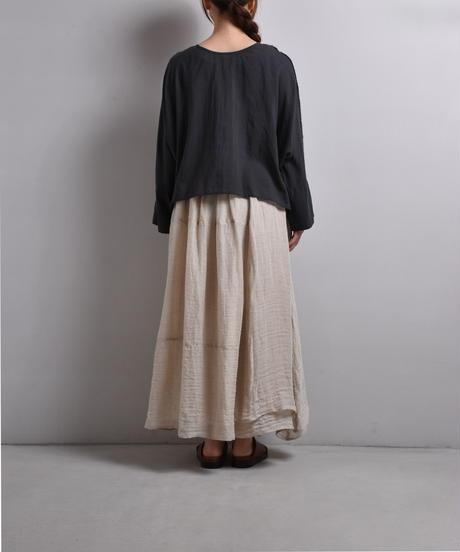 Rough atour / dolman short blouse