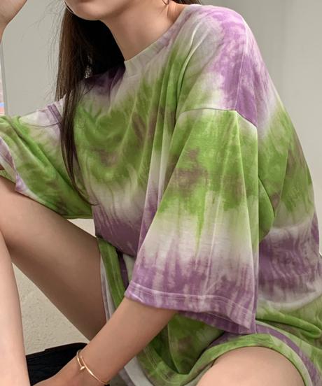 タイダイ柄オーバーサイズTシャツ 743