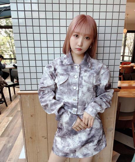 shichan0129着用❤︎ダイダイ柄スカートSET UP  689