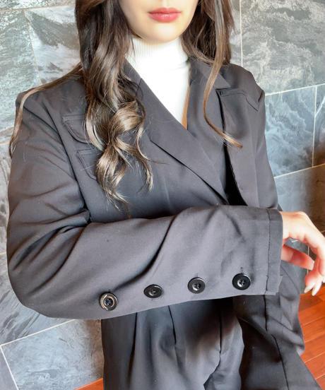 【ランキング1位】ぴょなちゃん着用❤︎ショート丈ジャケット×ストレートルーズボトムセットアップ 0463