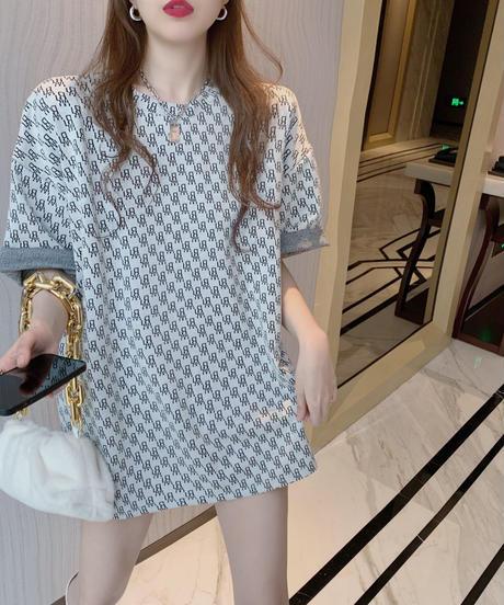 【即納品🔥】モノグラムオーバーサイズTシャツ 752