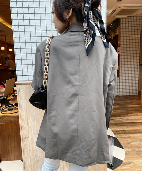 オーバーサイズジャケット×カーキT×ストレートジーンズ3 Piece SET  928