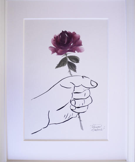 give the flower  [rose]