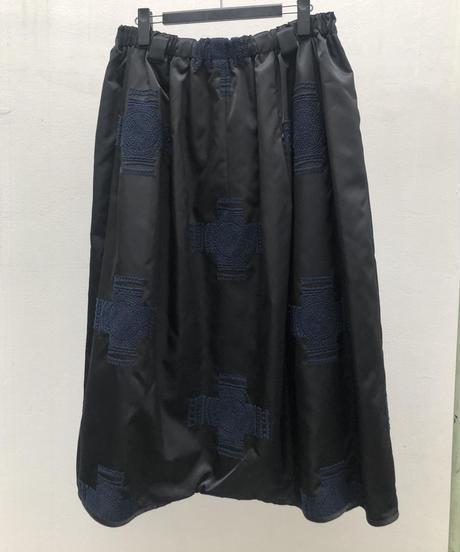 クロスエンブロイダリーナイロン スカート風パンツ(no.627)