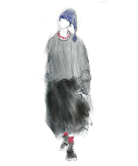 『ウールミルド天竺 スカート風パンツ no.601』
