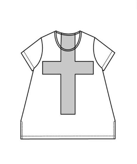 【クロスプリントTシャツ105】