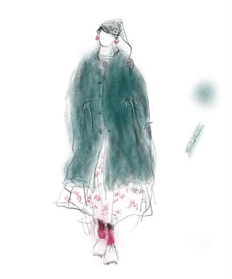 『ウールミルド天竺 ロングカーディガン no.204』