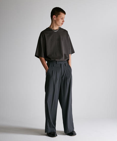 DRESS TWO TUCK WIDE PT【D.KHK】