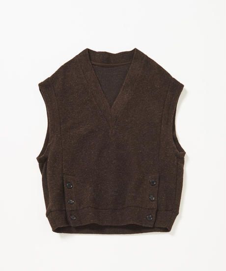 Not Planned V-neck Cut Pull-over (Brown)