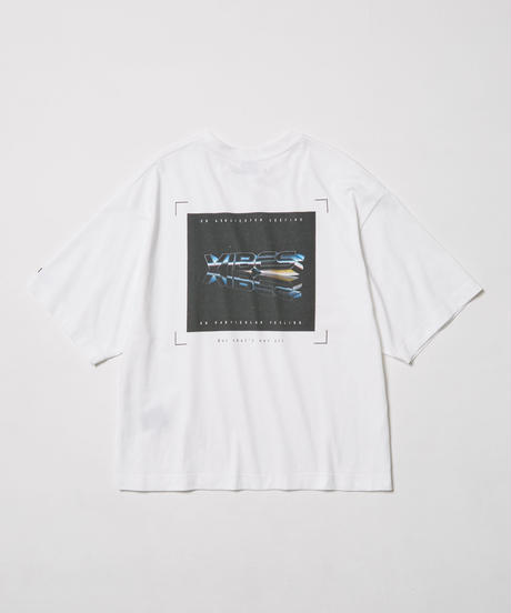 """""""VIBES""""   or particular feeling   H/S TEE【WHT】"""