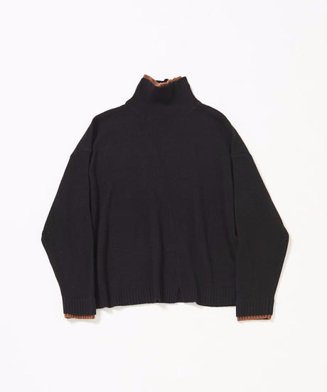 Double Layerd  Bi-color Knit(Black)