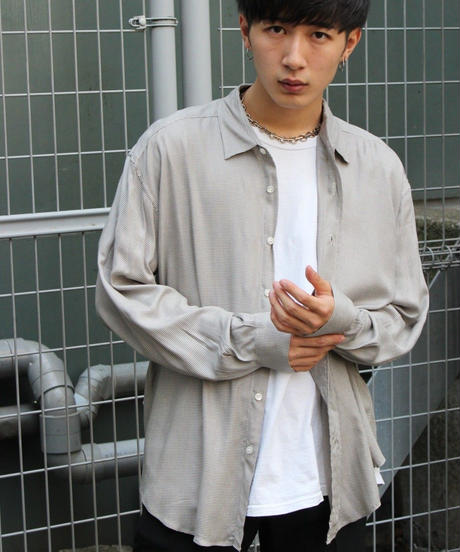 SLEEPING DROP SHIRT【BGE/MUTLI】