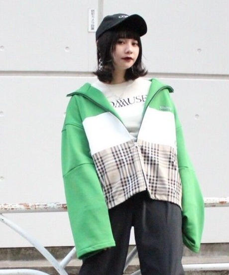 80's  GAP SHORT TRACK JACKET【GRN】
