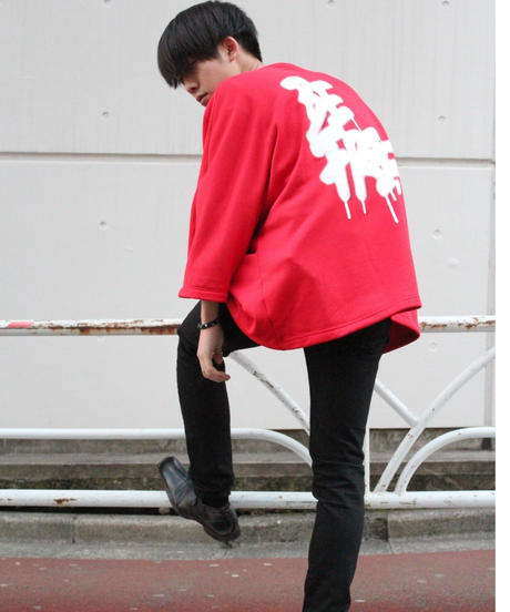 """BE FREE"" LONG-TEE【RED】"