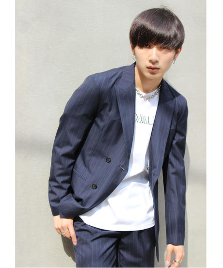 IDEAL W JACKET【NVY/STRIPE】