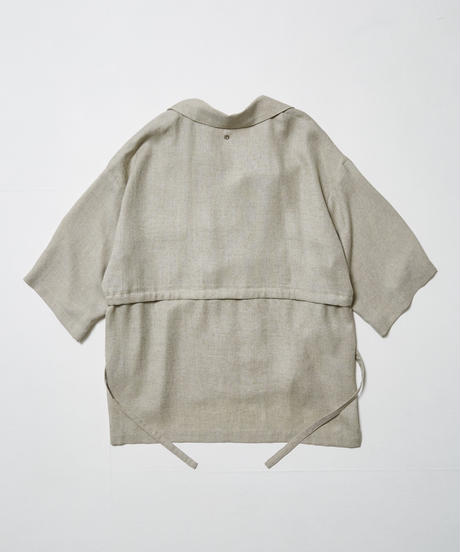 LEAF INTERSECT OPEN COLLAR SHIRT【BGE】