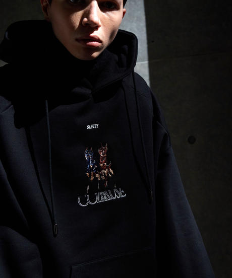【9.29(wed)21:00‐STOCK】SAFETY Big Parka (Dog embroidery)