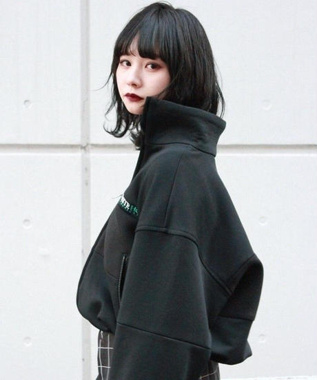 80's  GAP SHORT TRACK JACKET【BLK】