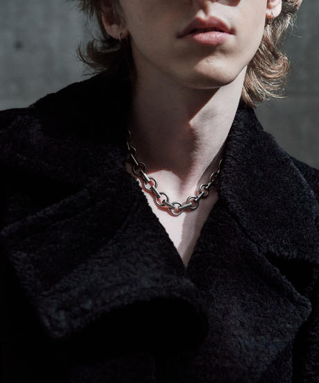 HOOPCHAIN NECKLACE  (SILVER)