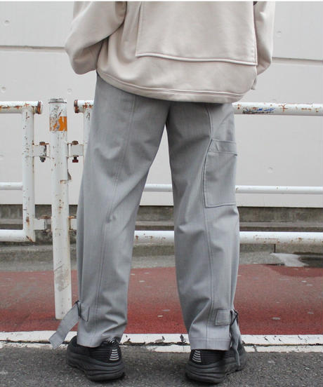 HEM LIFTING WIDE PANTS【GRY】
