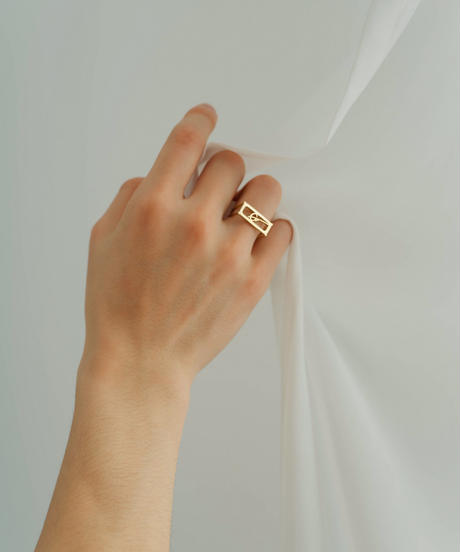 【2020.11.28(sat)21:00-PRE ORDER】GM STRUCTURE RING (gold)