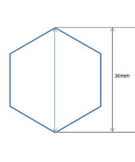 アクリル気泡入り丸棒(6角30mm×1M)
