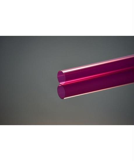ポリカーボネイトカラーパイプ (ピンク 外径22mm×内径21mm×1M) 1本入